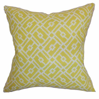 Nestor Geometric Floor Pillow Color: Canary