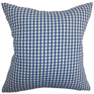 Natasha Plaid Floor Pillow Color: Denim