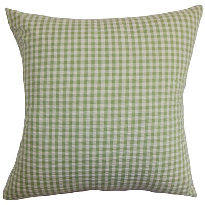 Natasha Plaid Floor Pillow Color: Light/Green