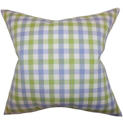 Jewell Plaid Floor Pillow Color: Blue/Green