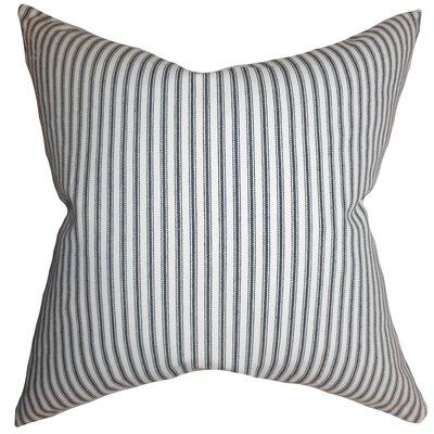 Calvin Stripes Floor Pillow Color: Gray
