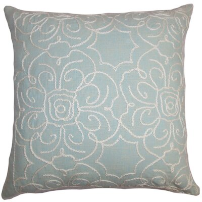 Chalda Floral Floor Pillow Color: Aqua/Blue