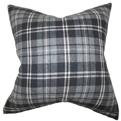Luke Plaid Floor Pillow Color: Gray