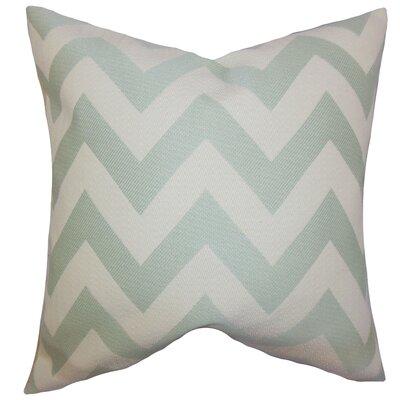Dossantos Chevron Floor Pillow Color: Jade