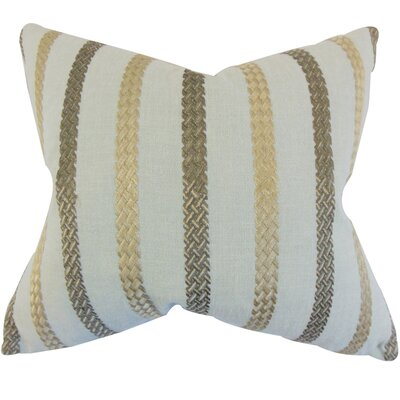 Melanie Stripe Floor Pillow Color: Sea Glass