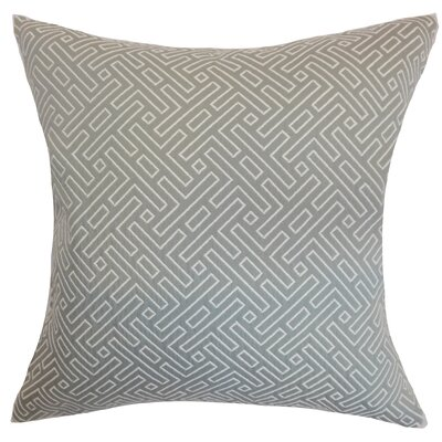 Kibler Geometric Floor Pillow Color: Silver