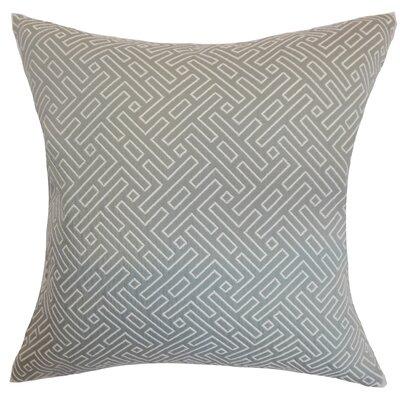 Kibler Geometric Floor Pillow Color: Silver