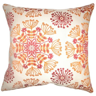 Brucedale Floral Floor Pillow Color: Flame