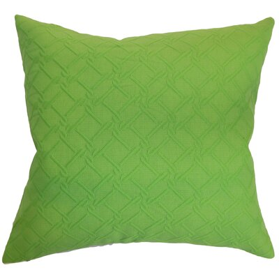 Hearn Solid Floor Pillow Color: Green