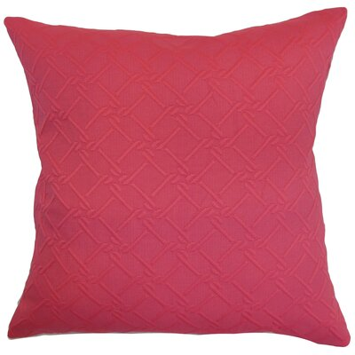 Hearn Solid Floor Pillow Color: Pink