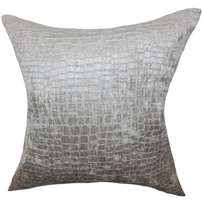 Acuff Solid Floor Pillow Color: Silver