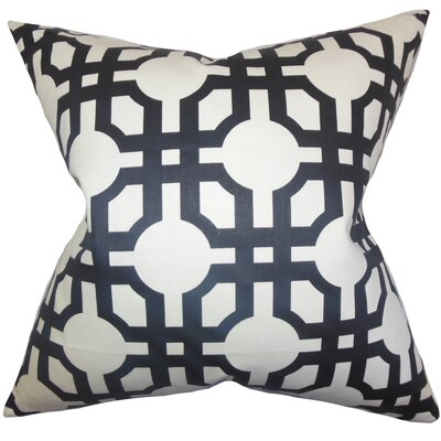Kendricks Geometric Floor Pillow Color: Black