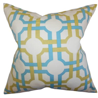 Kendricks Geometric Floor Pillow Color: Blue