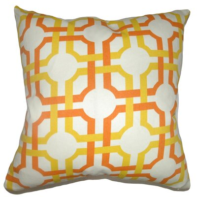 Calanthe Geometric Floor Pillow Color: Sungold