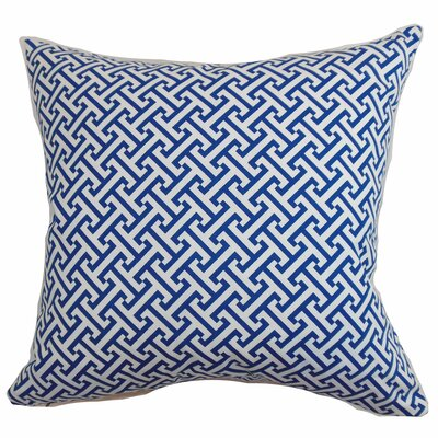 Corley Geometric Floor Pillow Color: Blueberry