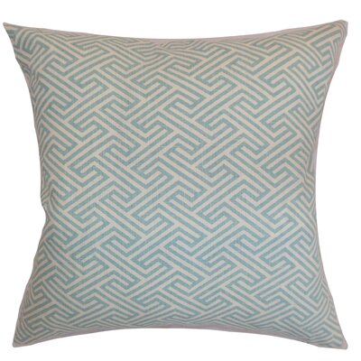 Jarett Geometric Floor Pillow Color: Sky Blue
