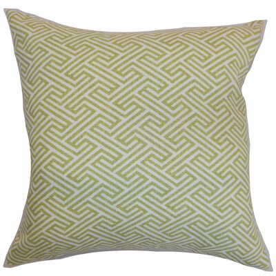 Jarett Geometric Floor Pillow Color: Spring Green