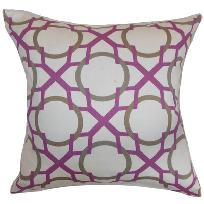 Remington Geometric Floor Pillow Color: Wisteria