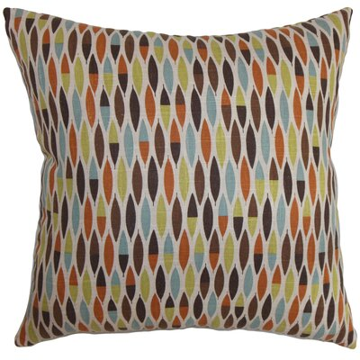 Rudy Geometric Floor Pillow Color: Blue/Green