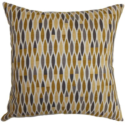 Rudy Geometric Floor Pillow Color: Gold