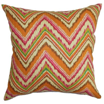Brushwood Zigzag Floor Pillow Color: Orange/Pink