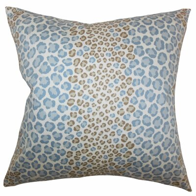 Deondre Animal Floor Pillow Color: Blue/Brown