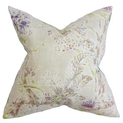 Ilana Floral Floor Pillow Color: Natural