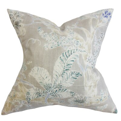 Ilana Floral Floor Pillow Color: Royal Blue
