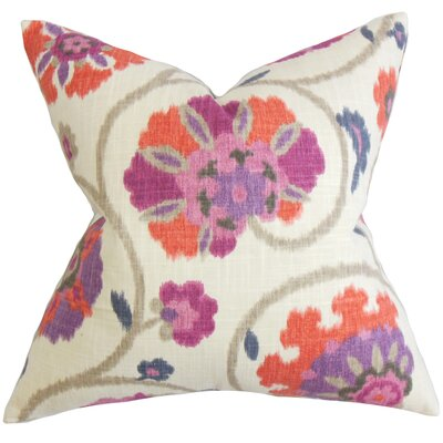Aspendale Floral Floor Pillow Color: Purple