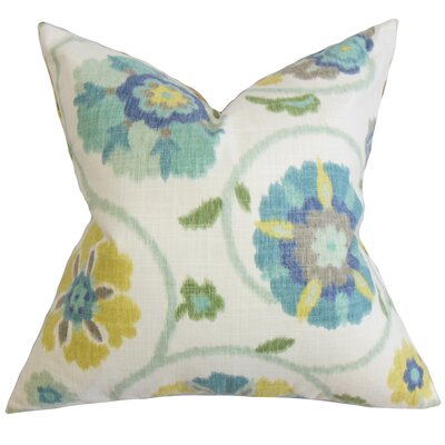 Aspendale Floral Floor Pillow Color: Blue