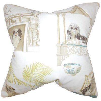 Colesville Animal Floor Pillow Color: Ivory