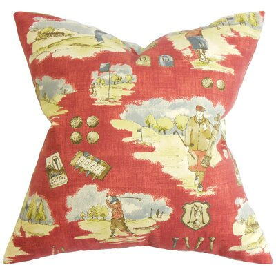 Coddington Floor Pillow Color: Cranberry Red