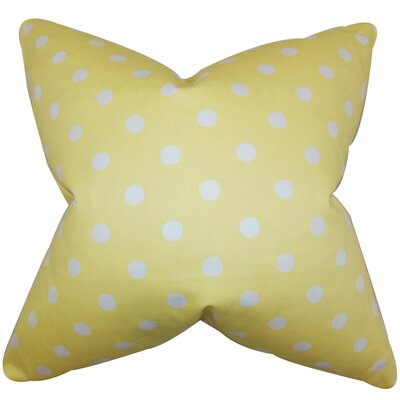 Dunkel Polka Dots Floor Pillow Color: Canary