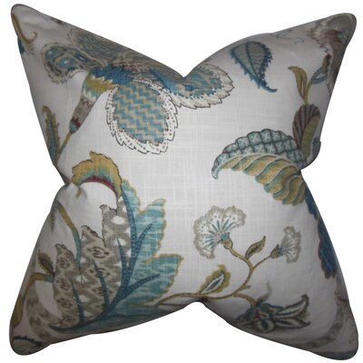 Chancery Floral Floor Pillow Color: Chambray