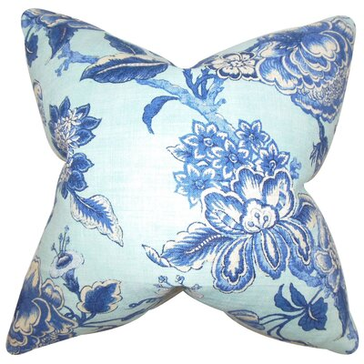 Devonne Floral Floor Pillow Color: Blue