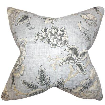 Devonne Floral Floor Pillow Color: Gray