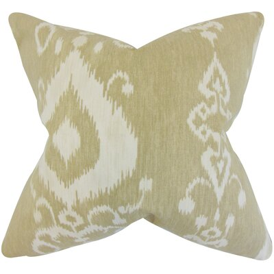 Brookvale Ikat Floor Pillow Color: Tan