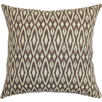 Delmer Ikat Floor Pillow Color: Chocolate