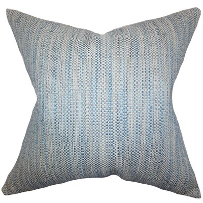 Alfred Woven Floor Pillow Color: Blue