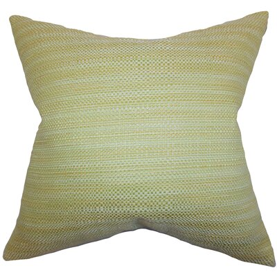 Alfred Woven Floor Pillow Color: Green