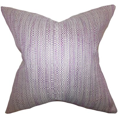 Alfred Woven Floor Pillow Color: Purple