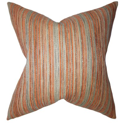 Adelheid Stripes Floor Pillow Color: Orange