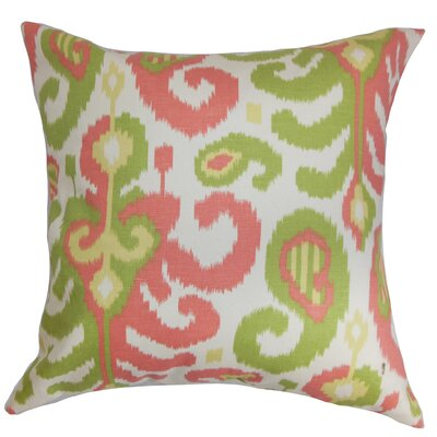 Salesville Ikat Floor Pillow Color: Pink/Green