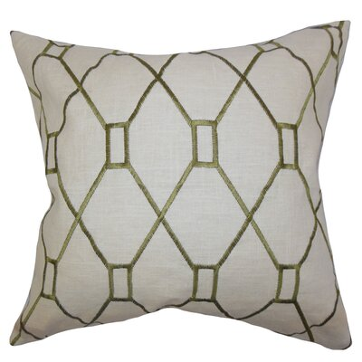 Forge Geometric Floor Pillow Color: Green