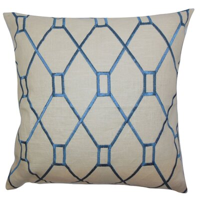 Forge Geometric Floor Pillow Color: Blue