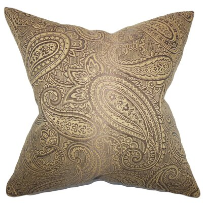 Plagido Paisley Floor Pillow Color: Brown