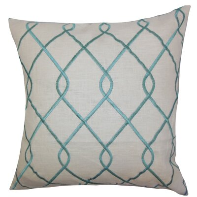 Ladarius Geometric Floor Pillow Color: Aqua Blue