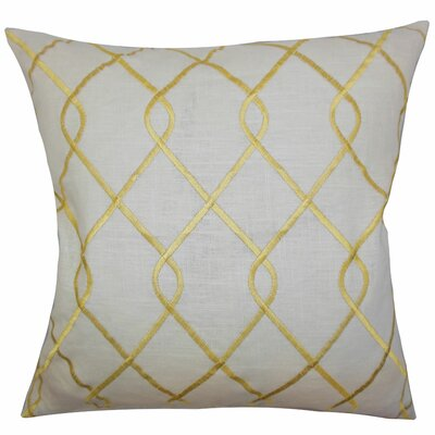 Ladarius Geometric Floor Pillow Color: Yellow