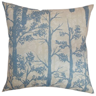 Miriam Trees Floor Pillow Color: Glacier