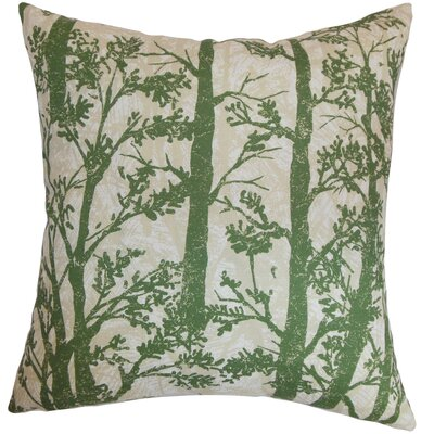 Miriam Trees Floor Pillow Color: Green